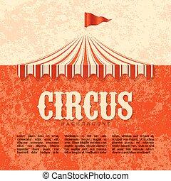 Circus advertisement design element