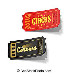 Circus and cinema tickets