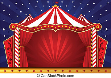 A vector illustration of a circus background