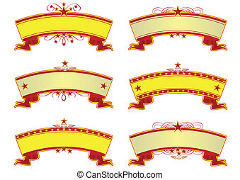 Circus banners - A set of circus banners for your messages.