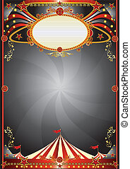 Circus black background