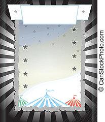 Circus. Black retro poster