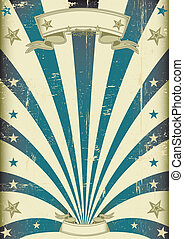 circus blue beams vintage poster - A vintage poster for your...