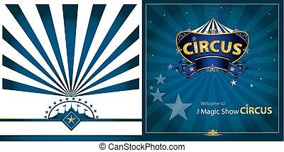 circus Blue greeting card