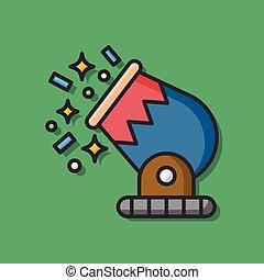 Circus Cannon vector icon