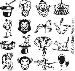 Circus carnival outline