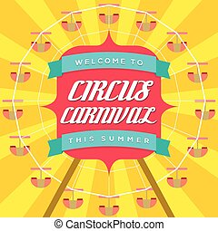 Circus Carnival Poster Template.