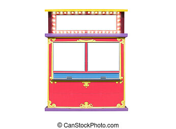 Circus Carnival Ticket Booth Stand - A blank isolated ticket...