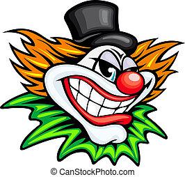 Circus clown - Angry circus clown or joker in cartoon style