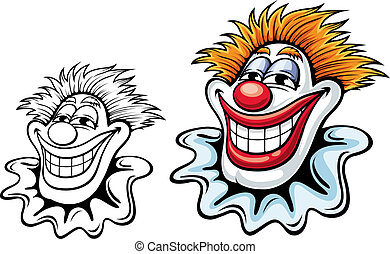 Cartoon circus clown for carnival, party or another entertainment design