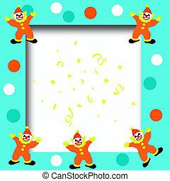 circus clown frame