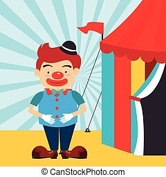 Circus design over blue background vector illustration