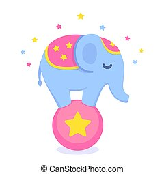 Circus elephant illustration
