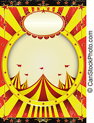 Circus entertainment poster