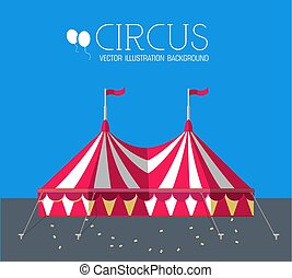 circus flat background concept. vector illustration design.