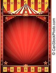 circus, frame, poster