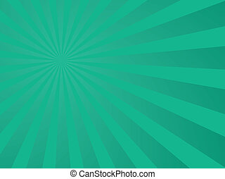 A abstract green background with gradient arms shooting out