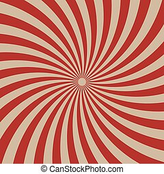 Circus graphic radius effects red retro color and light brown for comic background.