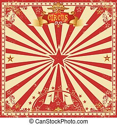 Circus grunge greeting card