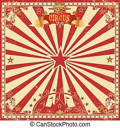 Circus grunge greeting card