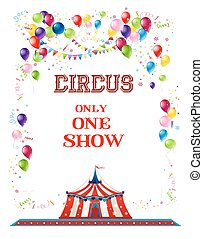 Circus holiday banner