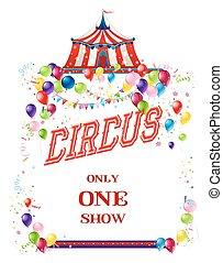 Circus holiday card