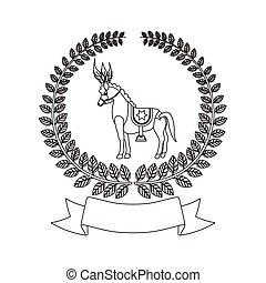Circus horse cartoon