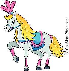 Circus horse theme image 1