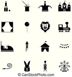 circus icon set