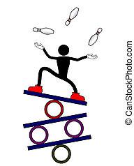 Circus juggler - Creative desing of circus juggler