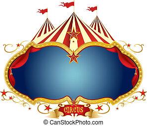circus, meldingsbord
