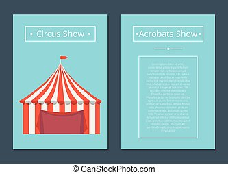 Circus Now Acrobat Show with Tent in Red and White