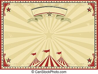 Circus old red horizontal background