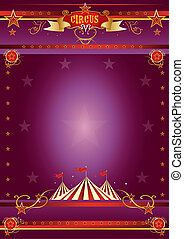 circus, paarse , poster