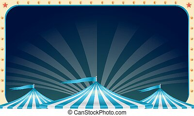 Circus Poster Blank Vector. Vintage Magic Show. Marquee. Holidays Events And Entertainment Concept. Illustration