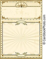 Circus poster brown vintage