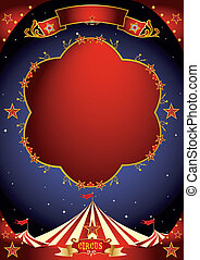 circus, poster, nacht