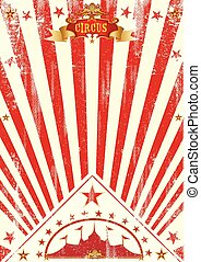 Circus poster red sunbeams