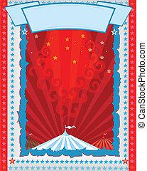 circus poster retro style