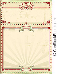 circus, poster, rood, ouderwetse