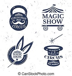 Circus poster, vector illustration - Circus poster, set of...