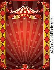 circus red and gold rhombus poster - A retro circus poster...