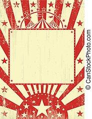 Circus red grunge background