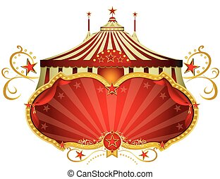 Circus red signboard