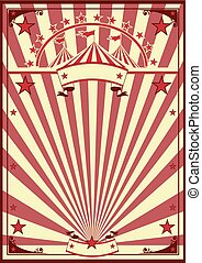 circus, retro, poster
