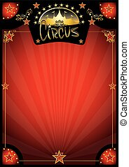 circus, retro, rood, poster