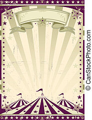 circus, retro, style.