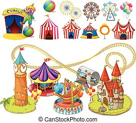 Circus rides and tents
