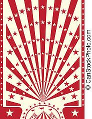 circus, rood