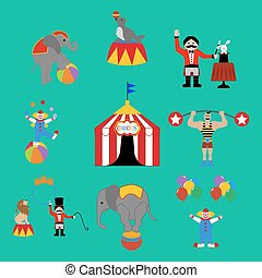Circus set illustration